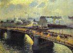 Мост в Руане, заход солнца, туман (1896)