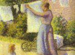 Женщина вешающая бельё (1887)