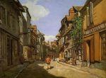 Деревенская улочка в Нормандии около Онфлера